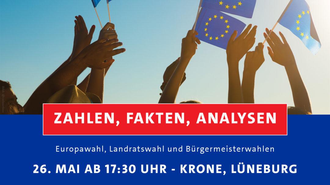 Wahlparty, Europawahl, Landratswahl, Hochrechnung, Wahlbeteiligung