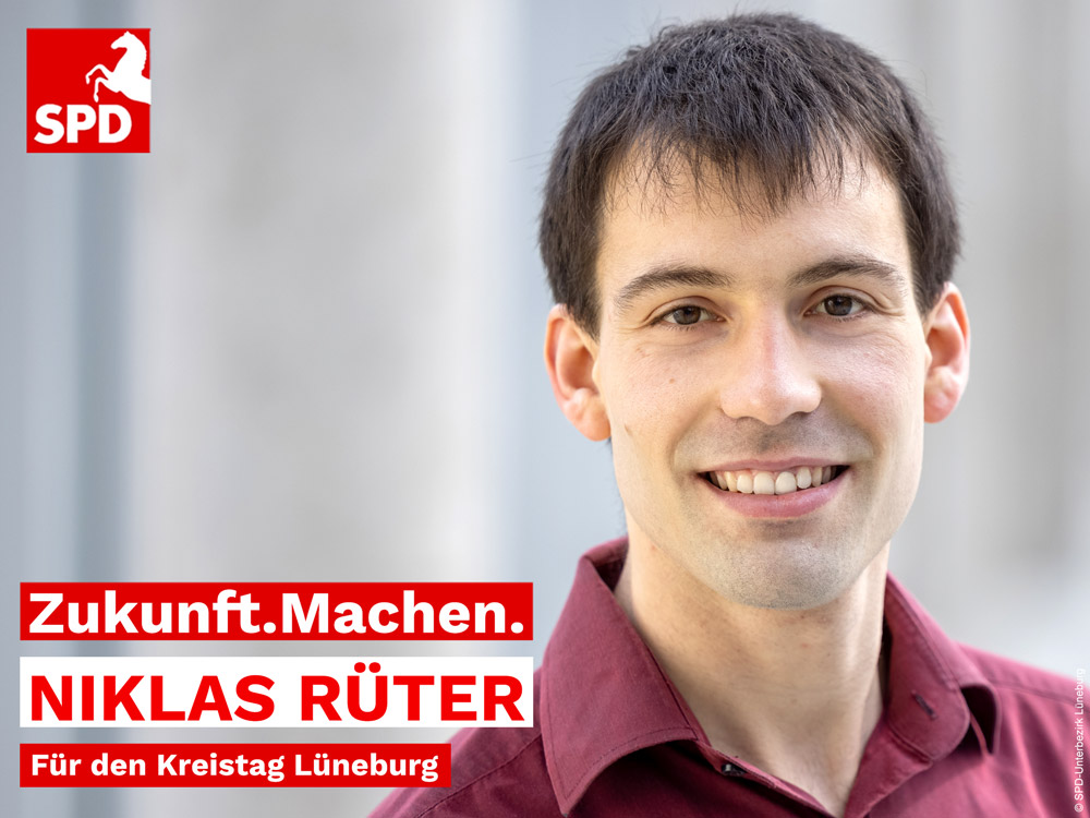 Niklas Rüter aus Handorf SPD Kandidat für den Lüneburger Kreistag